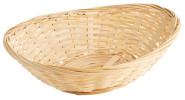 Contacto Bambuskorb, lebensmittelgeeignet, 23 x 18 x 7Hcm, oval