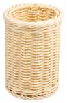 Contacto Besteckkorb, Ø 12 x 15 cm, naturfarben aus Polypropylen, schwere Qualität