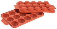 Contacto Cake-Pops-Form für 15 Cake-Pops á Ø 3,7cm, 22 x 14cm, Ober-/Unterschale Silikon, von -60°C bis +230°C, geruchs-/geschmacksneutral, terrakotta