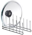 Contacto Deckelhalter/ Abtropfgestell aus verchromtem Metall, 30 x 10 x 14 cm