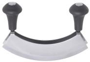 Contacto Doppel-Wiegemesser zweischneidig 17,5 cm, Klingenabstand 3,7 cm, Edelstahl 18/0 mit ergonomischen Kunststoffgriffen, zum Kräuter Hacken