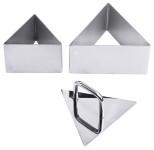Contacto Drückstempel für Schaumspeisenform Dreieck 681/100, Seitenlänge 10 cm, mit Griff