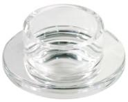 Contacto Edelstahl Butterschale aus Glas, Durchmesser innen 5,3 cm, außen 9 cm