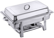 Contacto Edelstahl Chafing Dish GN 1/1, Gestell aus Edelstahl  18/0