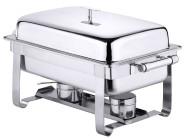 Contacto Edelstahl Chafing Dish GN 1/1, mit zwei Brennbehältern 66,5 x 35 x 35 cm