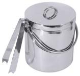 Contacto Edelstahl Eisbehälter 3 l mit Deckel und Zange
