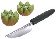 Contacto Edelstahl Fruchtdekorierer ORION 20,5 cm mit schwarzem Polyamid-Griff