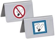 Contacto Edelstahl Nichtraucherschild, hochglänzend 65 x 40 mm