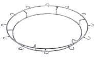 Contacto Edelstahl Ring für CNT00287385 mit 12 Sektglashalterungen aus Chrom
