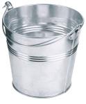Contacto Eimer, kleine Ausführung, Ø 14 x 12,5 cm, 1300 ml, verzinktes Blech, Draht-Tragebügel, wasserdicht, für Servietten/Deko, leichte Qualität