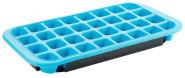 Contacto Eiswürfelform für 32 Eiswürfel (35 x 30 x 25 mm), Silikon, schwarze Hartschale aus Polypropylen, temperaturbeständig von -40°C bis +50°C