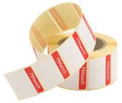 Contacto Etiketten Mittwoch ROT 500 Stück auf Rolle, leicht ablösbar, Etikettengröße 30 x 24 mm