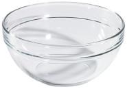 Contacto Glasschale aus gehärtetem Glas, Durchmesser innen 19 cm