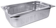Contacto GN-Behälter 2/3 65 mm perforiert, leicht, Ausgangsmaterialstärke 0,6-0,8 mm, Boden- und Seitenlochung, Lochdurchmesser 4 mm, stapelbar