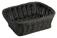 Contacto Polykorb, 23 x 18,5 x H8 cm, eckig, schwarz, Polypropylen, schwere Qualität