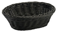 Contacto Polykorb, 24 x 15 x H7 cm, oval, schwarz, Polypropylen, schwere Qualität