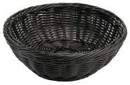 Contacto Polykorb, rund 21 cm, schwarz, Polypropylen-Korb, natur, schwere Qualität