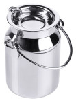 Contacto Sahnegießer in Milchkannenform, 50 ml, 5,8 x Ø 4 cm, Edelstahl, hochglänzend, aufklappbarer Deckel