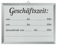 Contacto Schild GESCHÄFTSZEIT 18x24cm