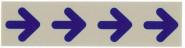 Contacto Schild PFEIL (Symbole), wetter- und wischfest, selbstklebend, blaue Schrift auf silberfarbenem 0,5 mm starkem Hartplastik
