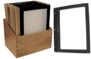 Contacto Speisekartenmappe Holz, 20 Stück im Kasten