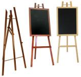 Contacto Staffelei aus dreifach lackiertem Buchenholz, Breite 60 cm Höhe 165 cm Farbe schwarz