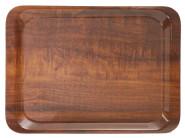 Contacto Tablett, rutschhemmend 44 x 32 cm Nußbaum Dekor