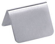 Contacto Tisch-Schild ohne Aufdruck, 5,3 x 3,4 cm, seidenmat, neutral, 1,5 mm starkes Edelstahl, poliert, schwere Qualität