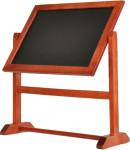 Contacto Tischtafel drehbar um 360° aus schwarzem PVC Kunststoff DIN A5, Breite 47 cm Höhe 26 cm