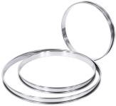 Contacto Tortenbodenring, flache Ausführung, Ø 8 x H2 cm, hochglänzendes Edelstahl, mit Verstärkungsrand, für Flan/Tartes/Gebäck/Torten