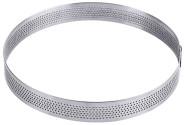 Contacto Tortenring aus Edelstahl, perforierte Oberfläche, Ø 15 x H2 cm, Backware wird besser belüftet
