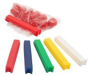 Contacto twixit! HACCP Set 11 cm 20 Klammern in 5 HACCP-Farben, Original patentiertes twixit!®, geeignet für Gefrierschrank und Mikrowelle