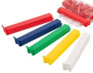 Contacto twixit! HACCP Set 14 cm 20 Klammern in 5 HACCP-Farben, Original patentiertes twixit!®, geeignet für Gefrierschrank und Mikrowelle