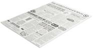 Contacto Wachspapier, 35 x 25 cm Motiv: Zeitung, 500 Blatt, fettdichtes Papier, dekorativ servieren,