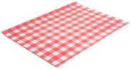 Contacto Wachspapier, Karomuster rot-weiß, 500 Blatt 35 x 25 cm, fettdichtes Papier, dekorativ servieren