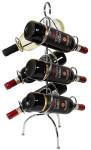 Contacto Weinflaschenhalter aus verchromtem Stahldraht für 6 Flaschen, 0,75 Liter