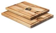 Continenta 2er Set Schneidebretter mit Saftrille aus Buche Kernholz, Tranchierbretter in Profi Qualität, 37 x 29 cm und 42 x 34 cm, Set by Danto®