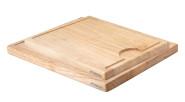 Continenta 2er Set Tranchierbretter aus Gummibaumholz mit Saftrille, Küchenbretter-Set, 37 x 29 cm und 42 x 34 cm, Set by Danto®