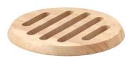 Continenta runder Holz-Untersetzer aus Gummibaumholz, Unterlage für Töpfe und Pfannen, Größe: Ø 20 x 1,5 cm
