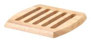 Continenta quadratischer Holz-Untersetzer aus Gummibaumholz, Unterlage für Töpfe und Pfannen, Größe: 20 x 20 x 1,5 cm