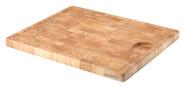Continenta Mosaik-Tranchierbrett mit Rille für Fleischsaft, Schneidebrett und Küchenbrett aus Gummibaum Stirnholz, Größe: 42 x 34 x 2,7 cm
