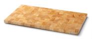 Continenta Schneidebrett Stirnholz 54 x 29 x2 ,7cm aus Gummibaumholz, mit vier Gummifüßen