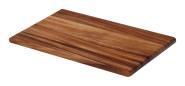 Continenta Schneidebrett, Tranchierbrett aus Akazie Kernholz, herausragende Qualität, edle Musterung, robust und langlebig, Größe: 26 x 16,5 x 1,2 cm