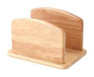 Continenta Schneidebrettständer aus Gummibaumholz, Brettchen-Ständer, passend für Artikel CTA3038, Größe: 15,5 x 10 x 10,5 cm