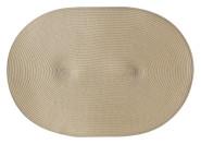 Continenta Tischset geflochten, ovale Form, Platzset, Platzmatte, Tischmatte in Gastro Qualität, 45 x 31 cm, natur