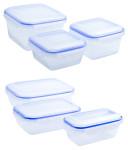 culinario 3er Set Frischhaltedosen, Aufbewahrungsdosen, ineinander stapelbar, in verschiedenen Ausführungen