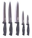 culinario 5-tlg Granito Dunkel Küchenmesser Set, Titanium-beschichtet