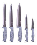 culinario 5tlg. Messerset in grau, Titanium veredelte Klingen