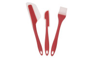 Culinario Backhelfer-Set aus Silikon/Nylon,3er-Set, in rot