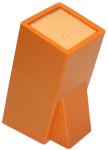 culinario Bambus Messerblock mit elastischem Borsteneinsatz, in der Trendfarbe orange, 24,5 x16 x 11 cm